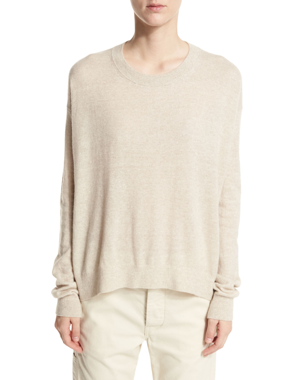 Drop-Shoulder Pullover Sweater