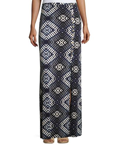 Emmyloo Printed Column Skirt