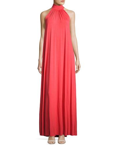 Klein Halter Long Dress