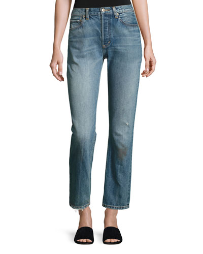 Vintage Straight-Leg Jeans, Calico