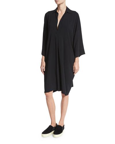 Easy Pullover Dress, Black