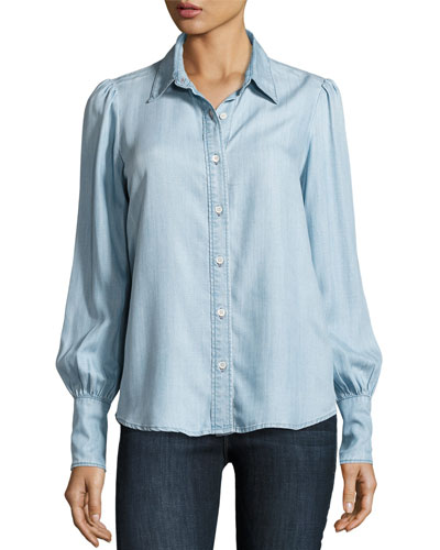 Feminine Denim Blouse, Rowan