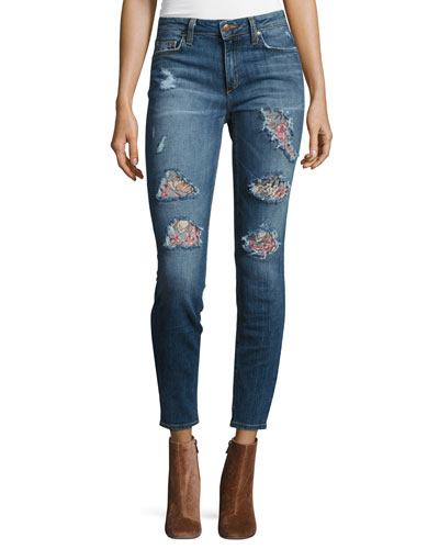The Icon Mid-Rise Skinny Ankle Jeans, Delana