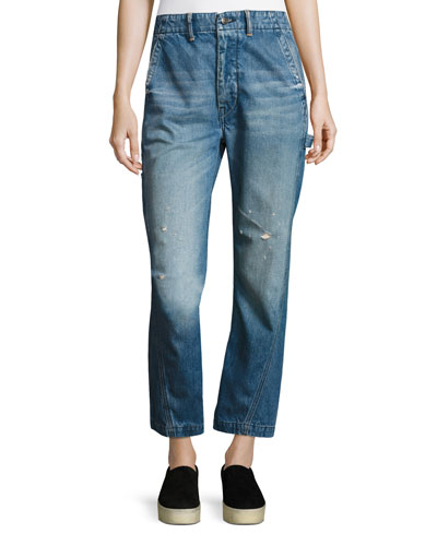 Slouch Carpenter Jeans, Medium Blue