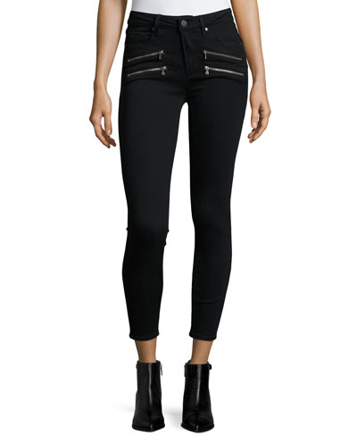 Edgemont Ultra-Skinny High-Rise Ankle Jeans, Black Shadow