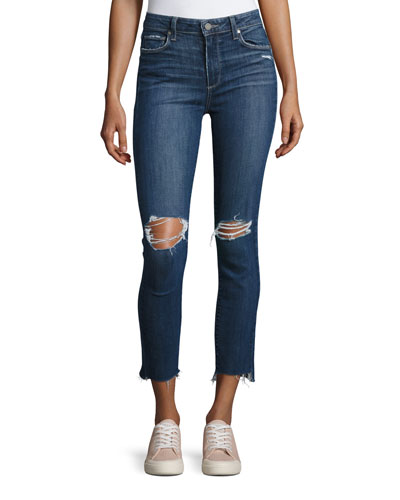 Hoxton Stagger-Hem Ankle Peg Jeans, Deedee