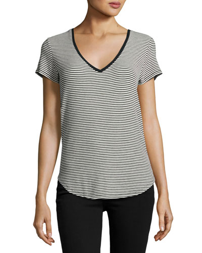 Lynnea Striped Tee, Black Pattern