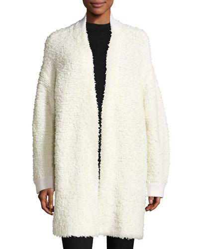 Cora Textured Sweater Coat, Ivory