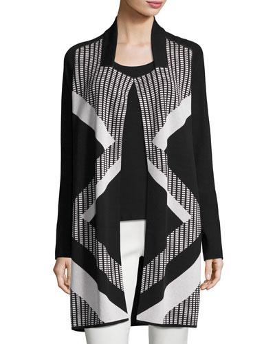 Frontline Reversible Knit Jacket, Plus Size