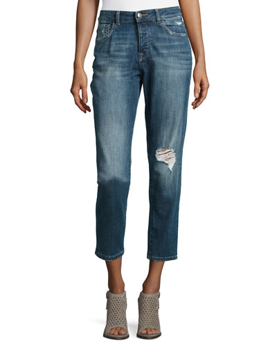 Goldie High-Rise Tapered Jeans, Morgan