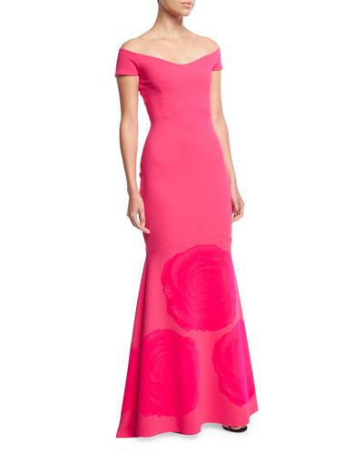 Vivietta Off-the-Shoulder Mermaid Gown