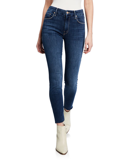 MOTHER The Looker Ankle Fray Girl-Crush Denim Jeans