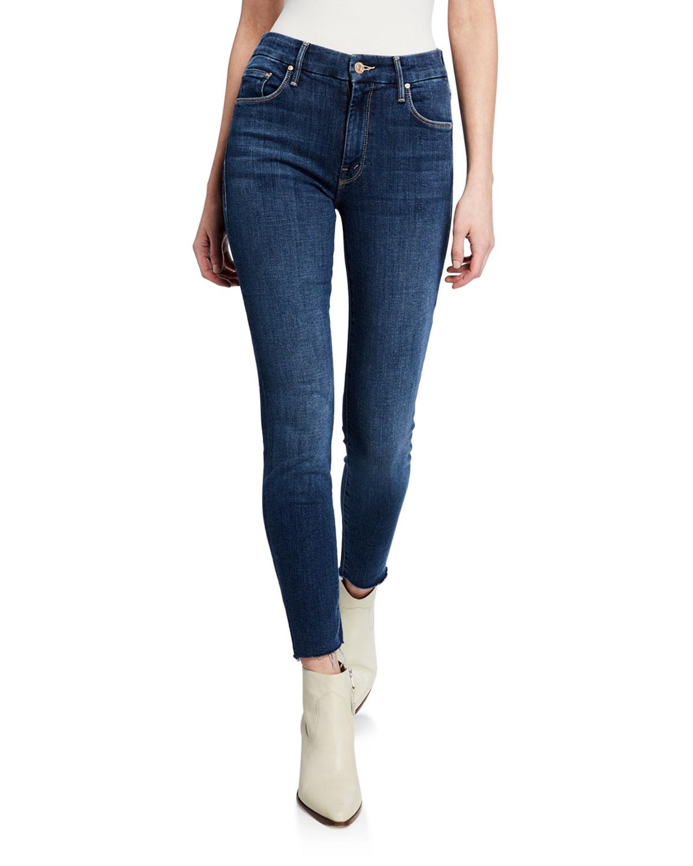 The Looker Ankle Fray GirlCrush Denim Jeans Blue