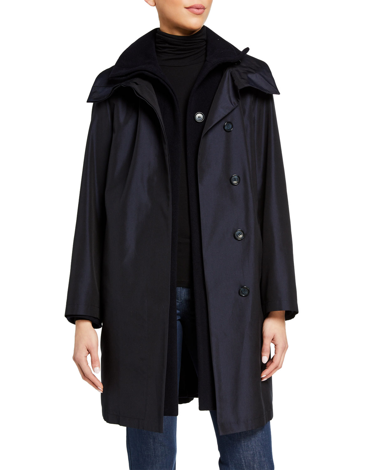 Storm System Double-Breasted Coat