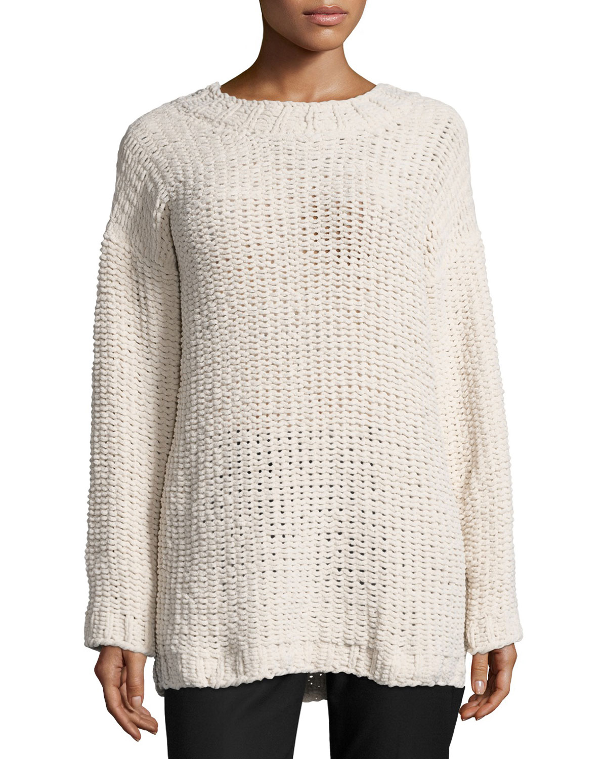 Amped Up Oversized Sweater, Beige