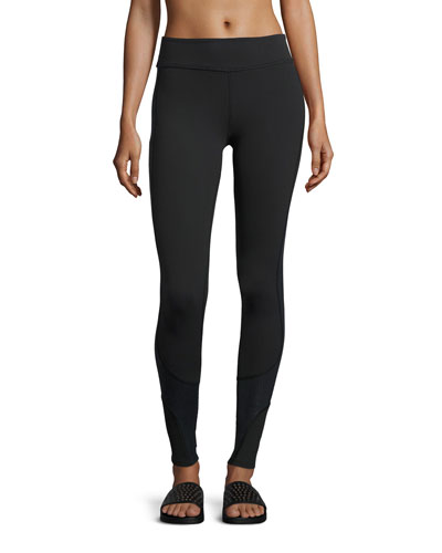 Glass Half Full Curved Long Leggings, Black