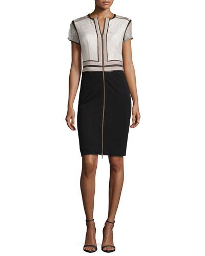 Wender Jersey Dress, Black/Opal/Gray