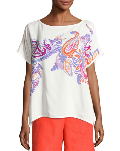Camicie Miriam Haveli Top, Violet/Clementine