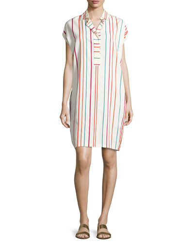 April Santa Cruz Striped Shirtdress