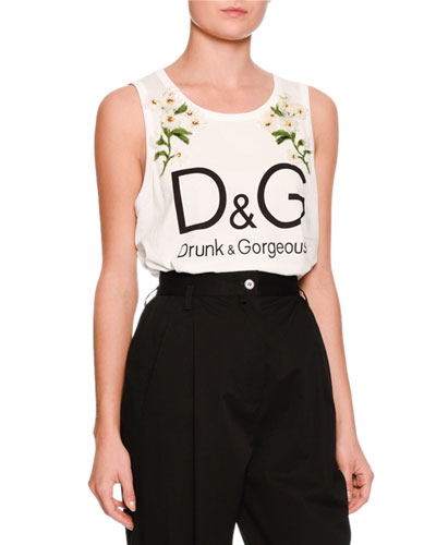 Daisy Logo Sleeveless Top, White