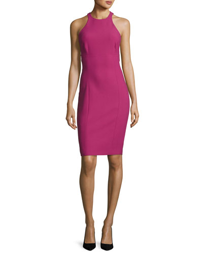 Makenna Sleeveless Sheath Dress, Purple