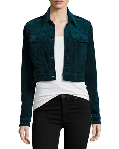 Faye Shrunken Velvet Jacket