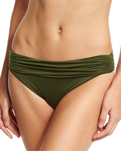 Convertible-Waist Swim Bottom, Green