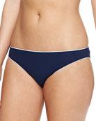 Riviera Contrast-Trim Swim Bikini Bottom