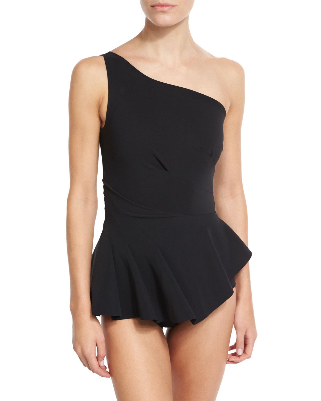 Astrea One-Shoulder Swimdress