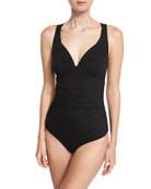 Gea Illusion One-Piece Swimsuit, Black