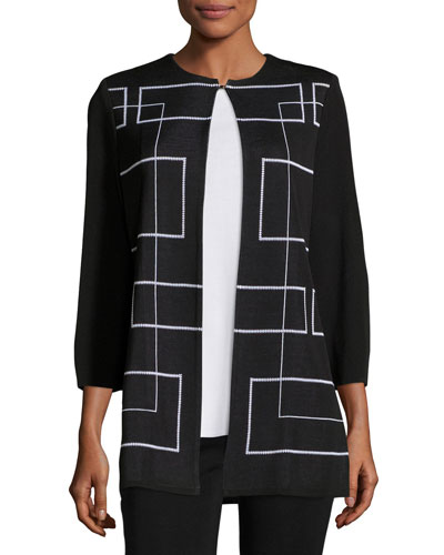 Clean Lines Knit Jacket, Plus Size