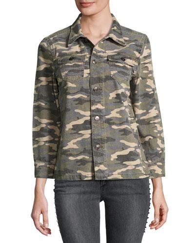 Nora Shirt Jacket, Vintage Camo