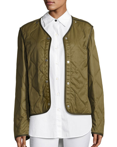 Quilted Forest Liner Jacket, Olive