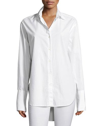 Essex Poplin Oversized Poplin Shirt, White