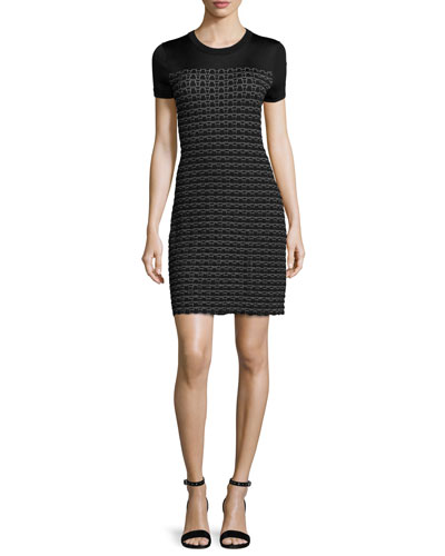 Rag & Bone Gwen Short - Sleeve Sweater Dress, Black