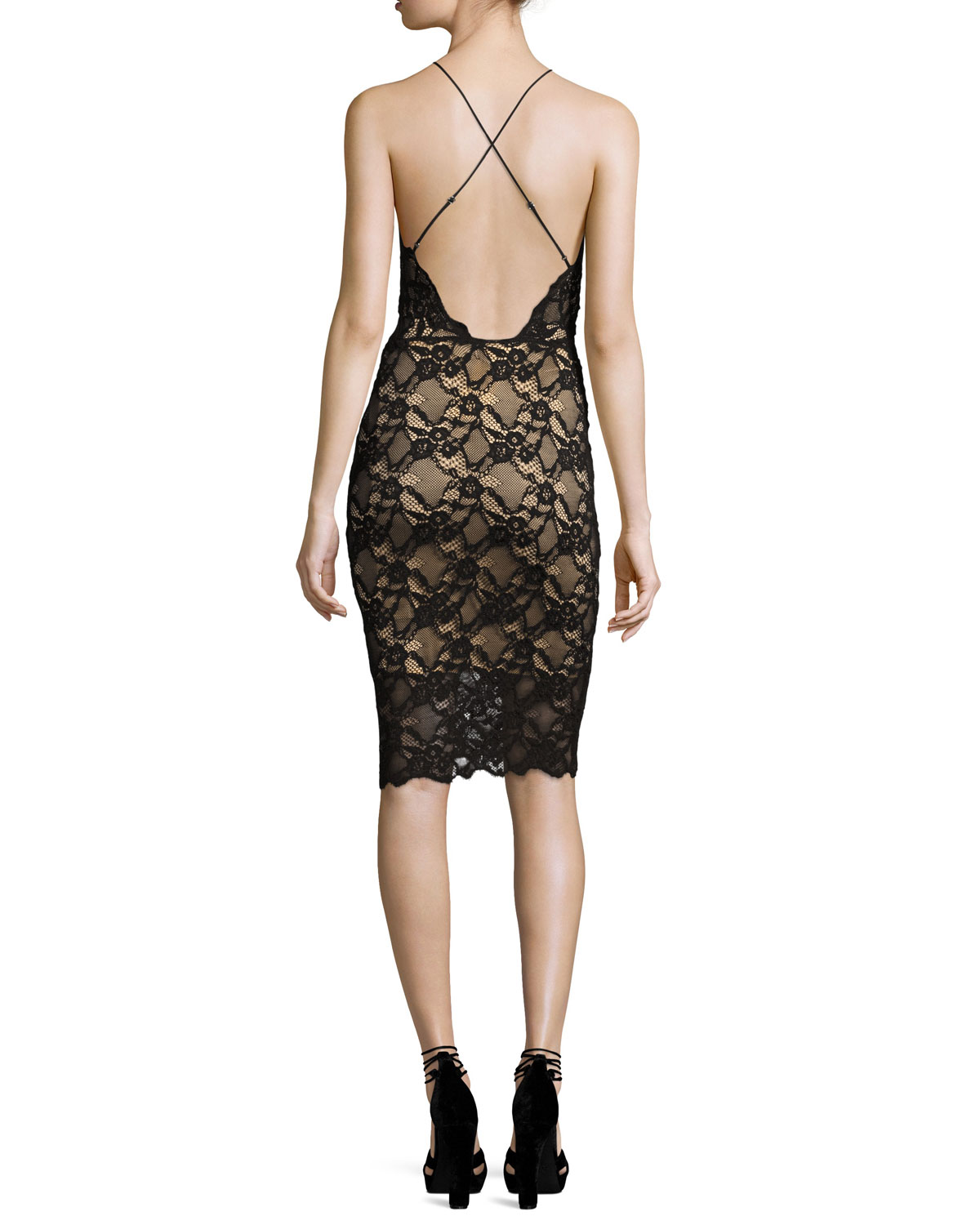 Drive Me Home Lace Cocktail Dress, Black