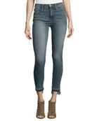Released Stagger-Hem Skinny Jeans, Merrick