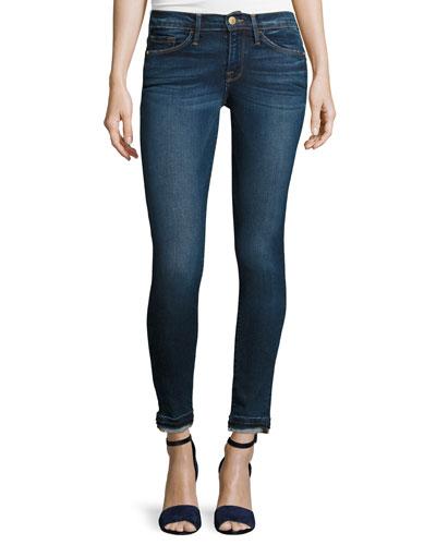 Le Skinny de Jeanne Jeans w/Released Hem, Sutter