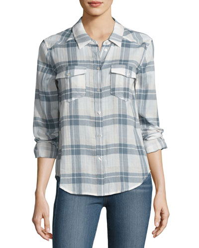 Mya Plaid Pocket Shirt, Pristine