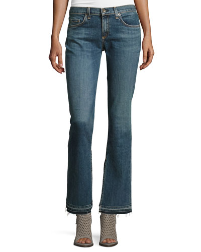 Lottie Side-Slit Boot-Cut Jeans, Paz