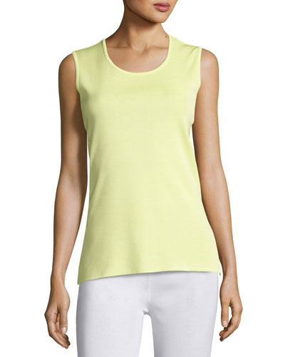 Scoop-Neck Tank, Daiquiri Green, Petite
