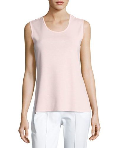 Scoop-Neck Tank Top, Pink, Petite