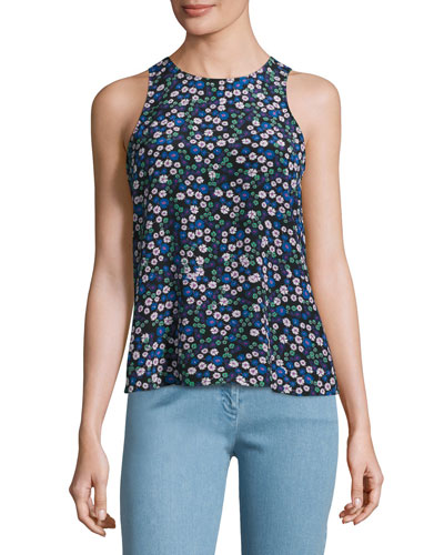 Juliet Floral Tank Top, Multicolor