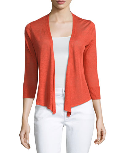 4-Way 3/4-Sleeve Cardigan, Plus Size