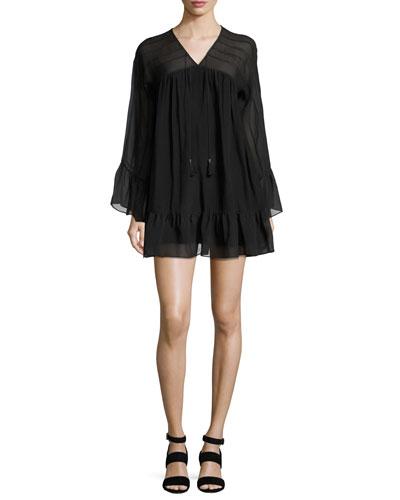 Quick Look. Rachel Zoe · Anita Bell-Sleeve Silk Mini Dress ... 3334280a9