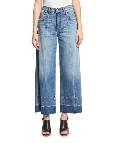 The Wide Leg Crop Jeans w/Released Hem, Old Soul