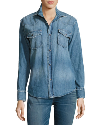 The Denim Western Shirt, Seto