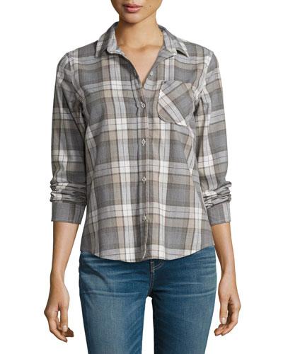 The Slim Boy Shirt, Gray Oak Plaid