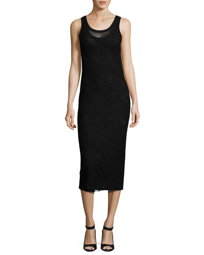 Scoop-Neck Lace Midi Tank Dress, Bless