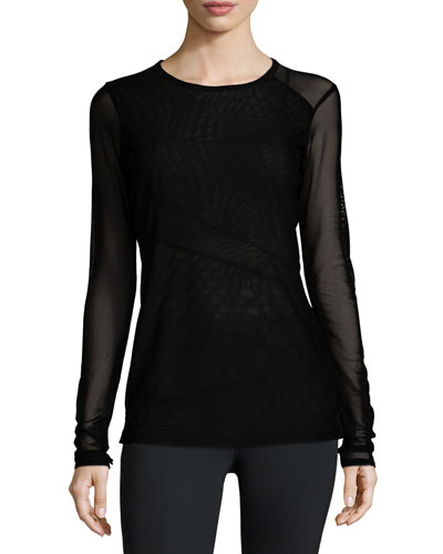 Open Up Mesh Performance Tee, Black